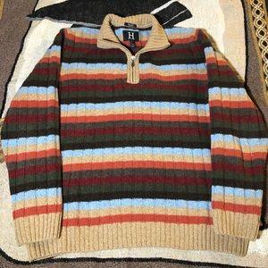 Tommy Hilfiger Multicolor Quarter Zip Sweater